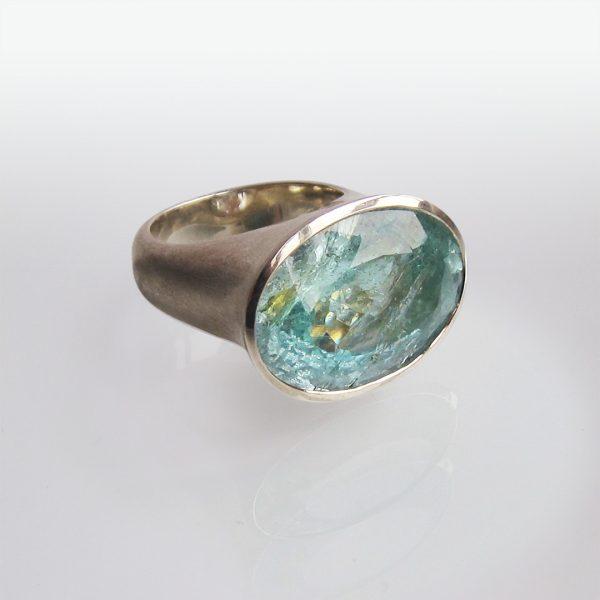Ring Silber Aquamarin
