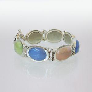 Armband Silber Mondsteine