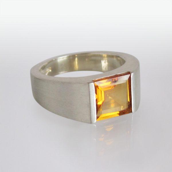 Ring Silber Mandarin-Granat