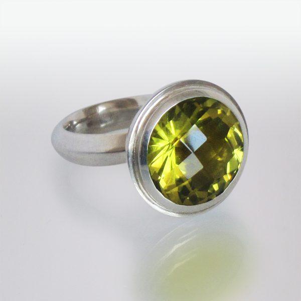 Ring Silber Peridot