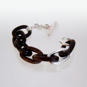 Armband Silber Holz