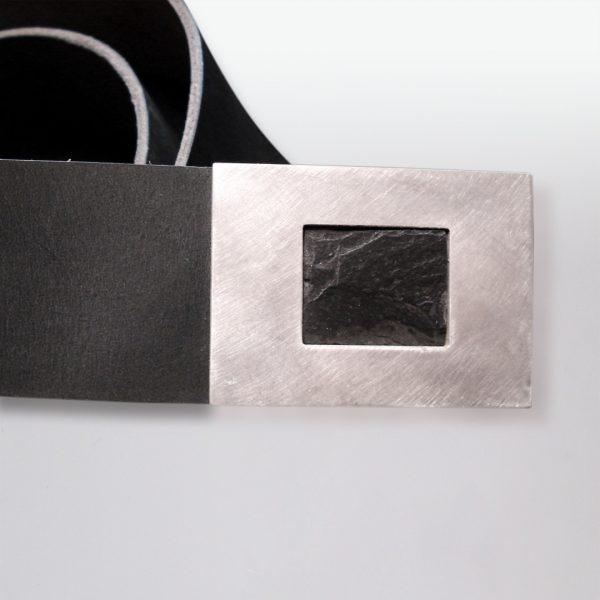 Gürtel Silber Scheifer Leder