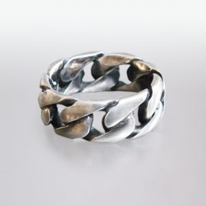Ring Silber geschwärzt
