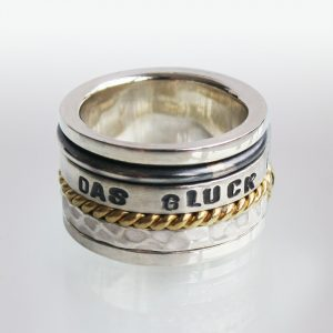 Ring Silber Text