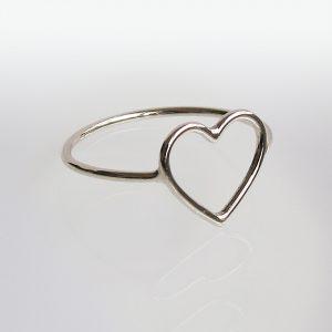 Ring Weißgold Herz