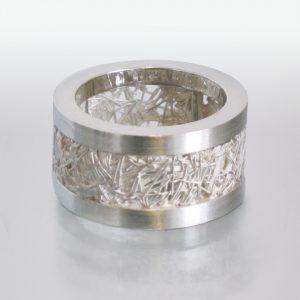 Silber Netzfäden