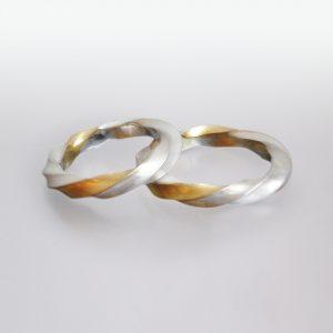 Trauringe 18k Gold Silber